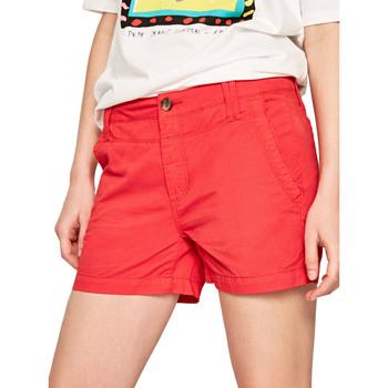 tekstylia Damskie Szorty i Bermudy Pepe jeans PL800695 Czerwony