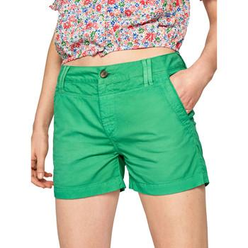 tekstylia Damskie Szorty i Bermudy Pepe jeans PL800695 Zielony