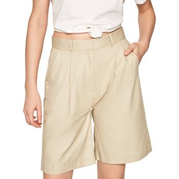 tekstylia Damskie Szorty i Bermudy Pepe jeans PL800886 Beżowy