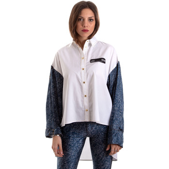 tekstylia Damskie Koszule Versace B0HVB606S0683904 Biały