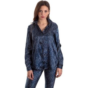 tekstylia Damskie Koszule Versace B0HVB601S0683904 Niebieski