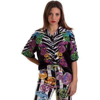 tekstylia Damskie Koszule Versace B0HVB604S0793983 Czarny