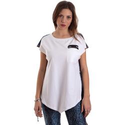 tekstylia Damskie T-shirty z krótkim rękawem Versace D3HVB657S0683904 Biały
