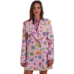 tekstylia Damskie Kurtki / Blezery Versace C2HVB507SN75SK69 Różowy
