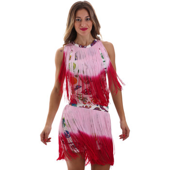tekstylia Damskie Sukienki krótkie Versace D2HVB406S0777K67 Biały