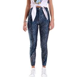 tekstylia Damskie Legginsy Versace A1HVB009S0684904 Niebieski