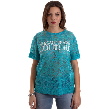 tekstylia Damskie T-shirty z krótkim rękawem Versace B2HVB70804748207 Niebieski