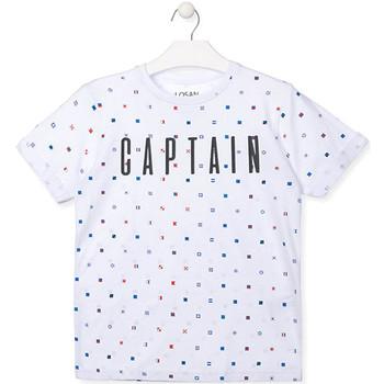 tekstylia Chłopiec T-shirty z krótkim rękawem Losan 013-1001AL Biały