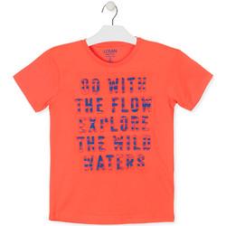 tekstylia Chłopiec T-shirty z krótkim rękawem Losan 013-1005AL Pomarańczowy
