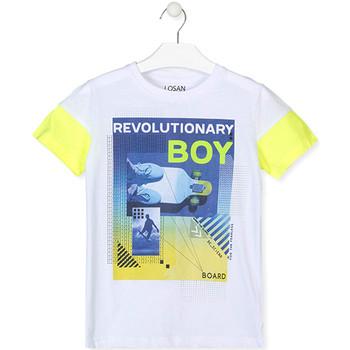 tekstylia Chłopiec T-shirty z krótkim rękawem Losan 013-1006AL Biały