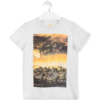 tekstylia Dziecko T-shirty z krótkim rękawem Losan 013-1017AL Biały
