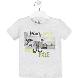 tekstylia Dziecko T-shirty z krótkim rękawem Losan 015-1010AL Szary