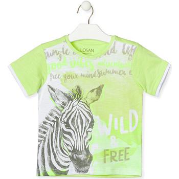 tekstylia Dziecko T-shirty z krótkim rękawem Losan 015-1011AL Zielony