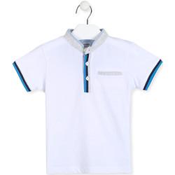 tekstylia Chłopiec Koszulki polo z krótkim rękawem Losan 015-1791AL Biały