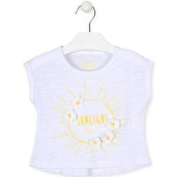 tekstylia Dziewczynka T-shirty z krótkim rękawem Losan 016-1006AL Biały