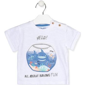 tekstylia Dziewczynka T-shirty z krótkim rękawem Losan 017-1000AL Biały