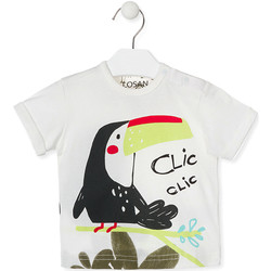 tekstylia Dziecko T-shirty z krótkim rękawem Losan 017-1012AL Biały