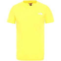 tekstylia Dziecko T-shirty z krótkim rękawem The North Face NF0A2WANDW91 Żółty