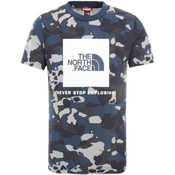 tekstylia Dziecko T-shirty z krótkim rękawem The North Face NF0A3BS2M7Z1 Niebieski