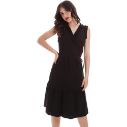 tekstylia Damskie Sukienki krótkie Gaudi 011BD15037 Czarny