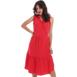 tekstylia Damskie Sukienki krótkie Gaudi 011BD15037 Czerwony