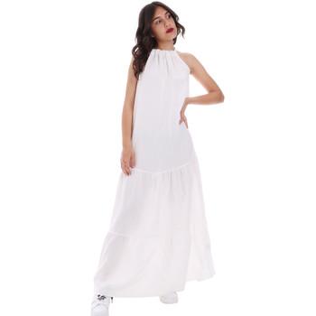 tekstylia Damskie Sukienki długie Gaudi 011FD15073 Biały