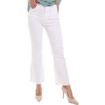 tekstylia Damskie Jeansy bootcut Gaudi 011BD25017 Biały