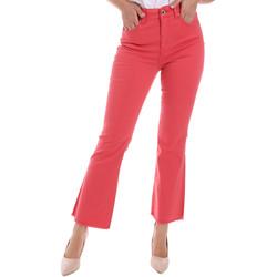 tekstylia Damskie Jeansy bootcut Gaudi 011BD25017 Czerwony