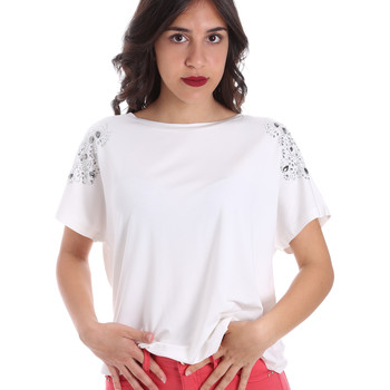 tekstylia Damskie T-shirty z krótkim rękawem Gaudi 011FD64022 Biały