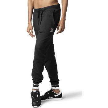 tekstylia Damskie Spodnie dresowe Reebok Sport DH1410 Czarny
