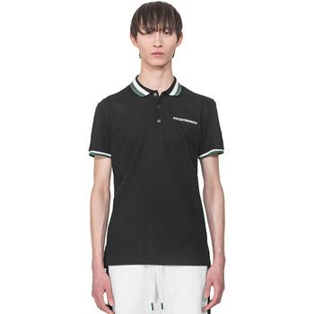 tekstylia Męskie Koszulki polo z krótkim rękawem Antony Morato MMKS01713 FA100083 Czarny