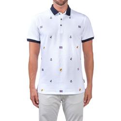 tekstylia Męskie Koszulki polo z krótkim rękawem Navigare NV82120 Biały
