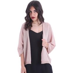 tekstylia Damskie Swetry rozpinane / Kardigany Gaudi 011FD53010 Różowy