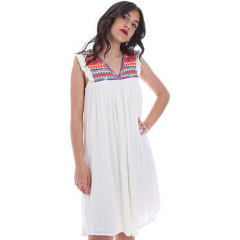 tekstylia Damskie Sukienki krótkie Gaudi 011BD15007 Beżowy