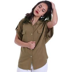 tekstylia Damskie Koszule Gaudi 011BD45030 Zielony