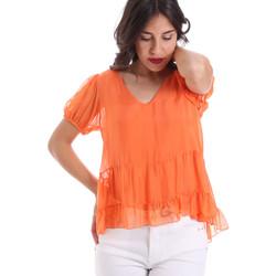 tekstylia Damskie Topy / Bluzki Gaudi 011BD45034 Pomarańczowy