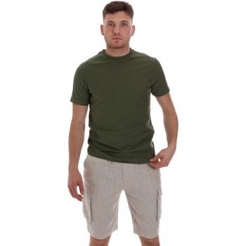 tekstylia Męskie T-shirty z krótkim rękawem Sseinse ME1548SS Zielony