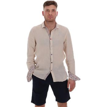 tekstylia Męskie Koszule z długim rękawem Sseinse CE538SS Beżowy