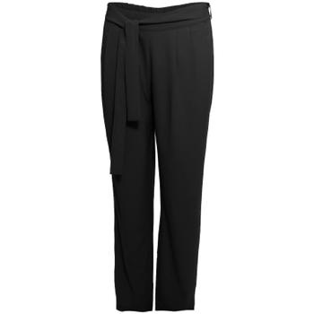 tekstylia Damskie Spodnie z lejącej tkaniny / Alladynki Smash S1829415 Czarny