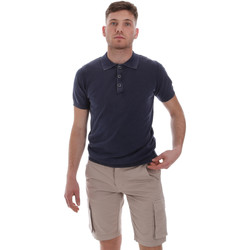 tekstylia Męskie Koszulki polo z krótkim rękawem Sseinse ME1513SS Niebieski
