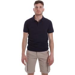 tekstylia Męskie Koszulki polo z krótkim rękawem Sseinse ME1517SS Niebieski