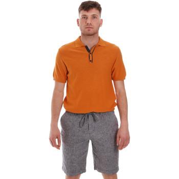 tekstylia Męskie Koszulki polo z krótkim rękawem Sseinse ME1528SS Pomarańczowy