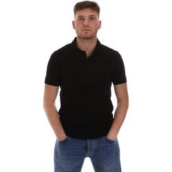 tekstylia Męskie Koszulki polo z krótkim rękawem Sseinse ME1517SS Czarny