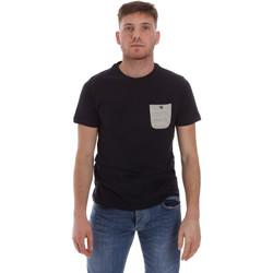 tekstylia Męskie T-shirty z krótkim rękawem Sseinse ME1588SS Niebieski