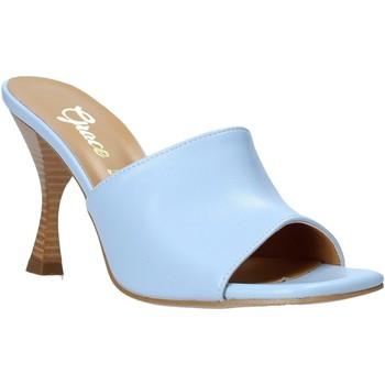 Buty Damskie Klapki Grace Shoes 6293Y014 Niebieski