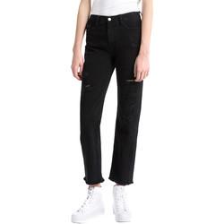 tekstylia Damskie Jeansy boyfriend Calvin Klein Jeans J20J207108 Czarny
