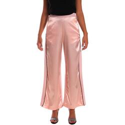 tekstylia Damskie Spodnie z lejącej tkaniny / Alladynki Y Not? 18PEY001 Różowy
