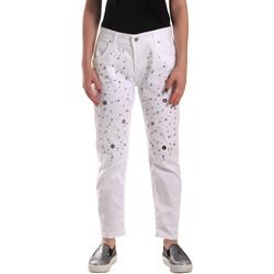 tekstylia Damskie Jeansy Y Not? 18PEY097 Biały