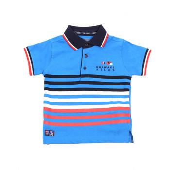 tekstylia Dziecko Koszulki polo z krótkim rękawem Losan 015-1037AL Niebieski