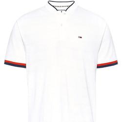 tekstylia Męskie Koszulki polo z krótkim rękawem Tommy Jeans DM0DM07780 Biały